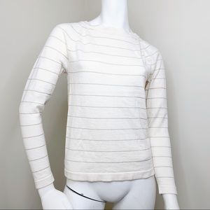 Banana Republic knitted cream color sweater